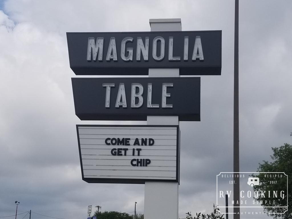Restaurant Review Magnolia Table Waco Texas RV Cooking Made Simple - Magnolia table restaurant waco texas